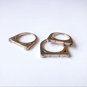 Kendra Scott Gold Ring Set
